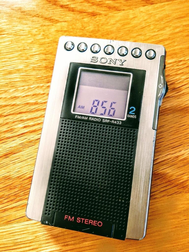 SONY携帯ラジオ
