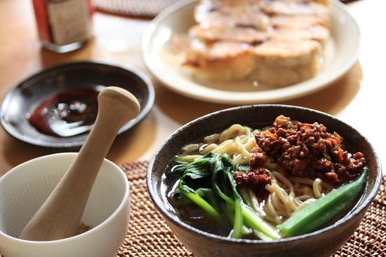 手打ち中華麺で作った担々麺