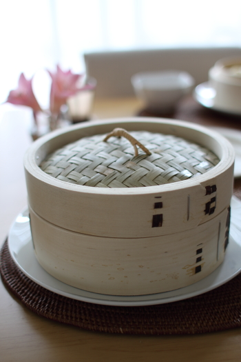 白木の中華蒸篭