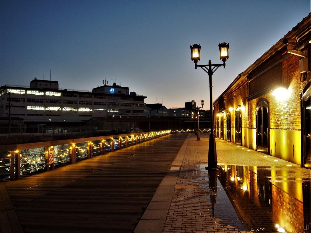 ライトアップされた神戸煉瓦倉庫