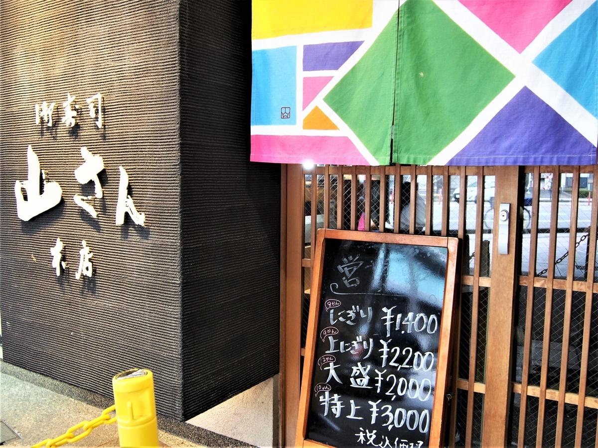 山さん寿司の外観・入り口