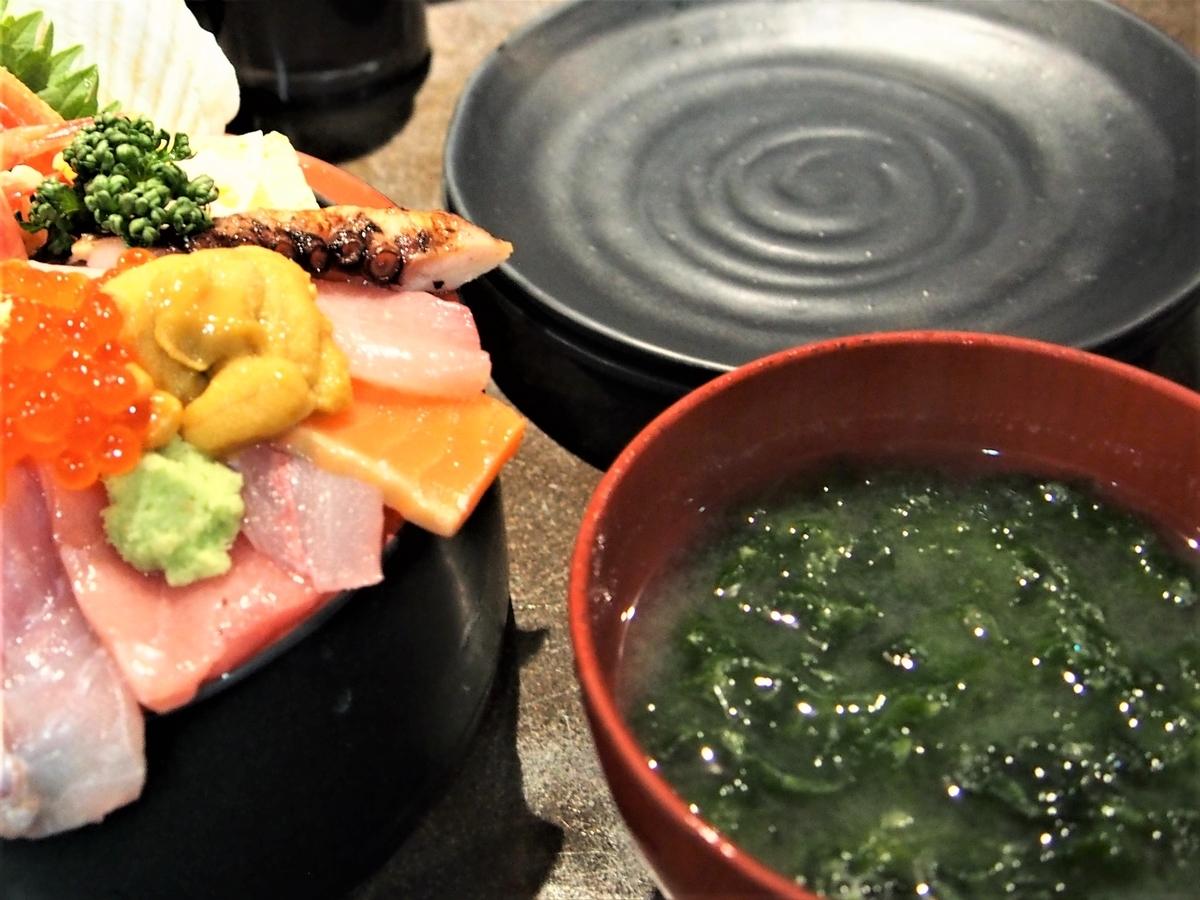 金沢で食べた海藻たっぷりの味噌汁