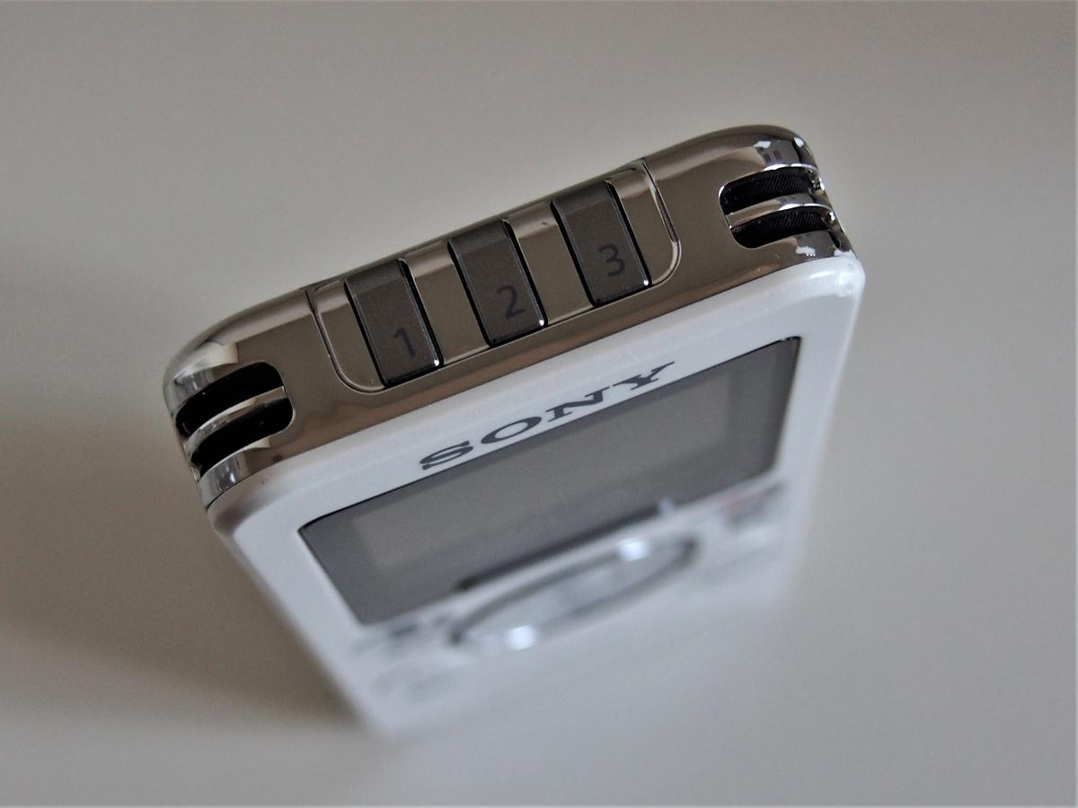 SONYポータブルラジオレコーダー上部のお気に入りボタン