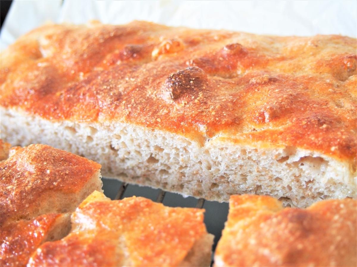 国産小麦・春よ恋で焼いたこねないパン