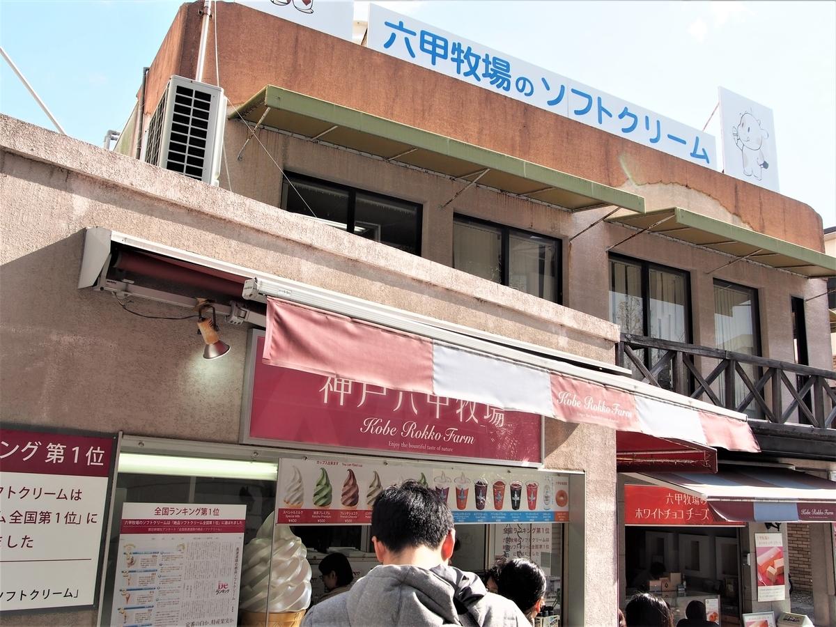神戸六甲牧場アイス売り場の外観