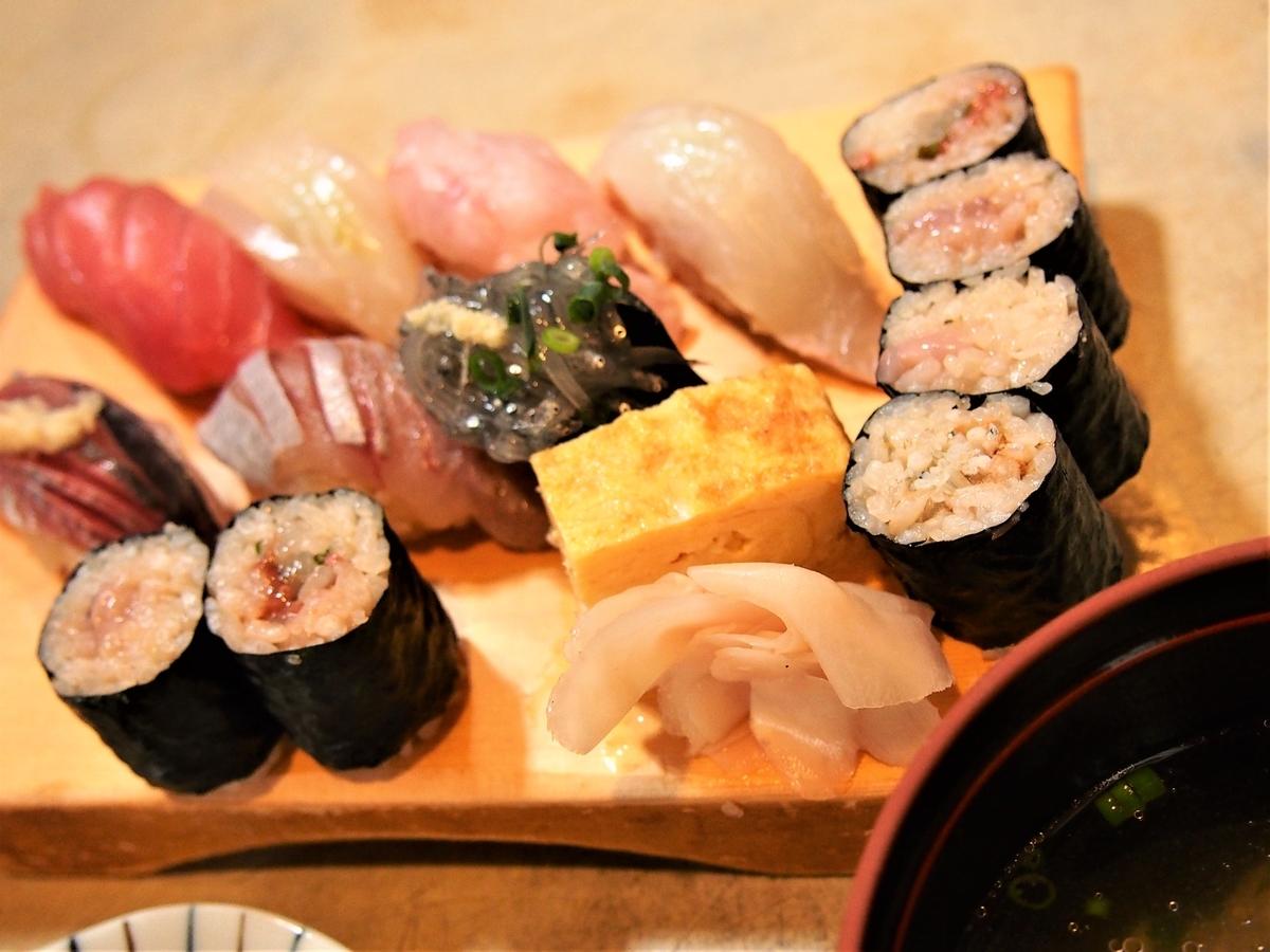 春の天史朗鮨「地魚にぎり」寿司ランチ