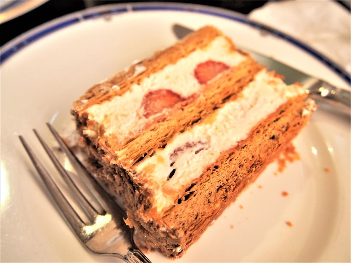 カフェラミルのケーキセット、ミルフィーユ