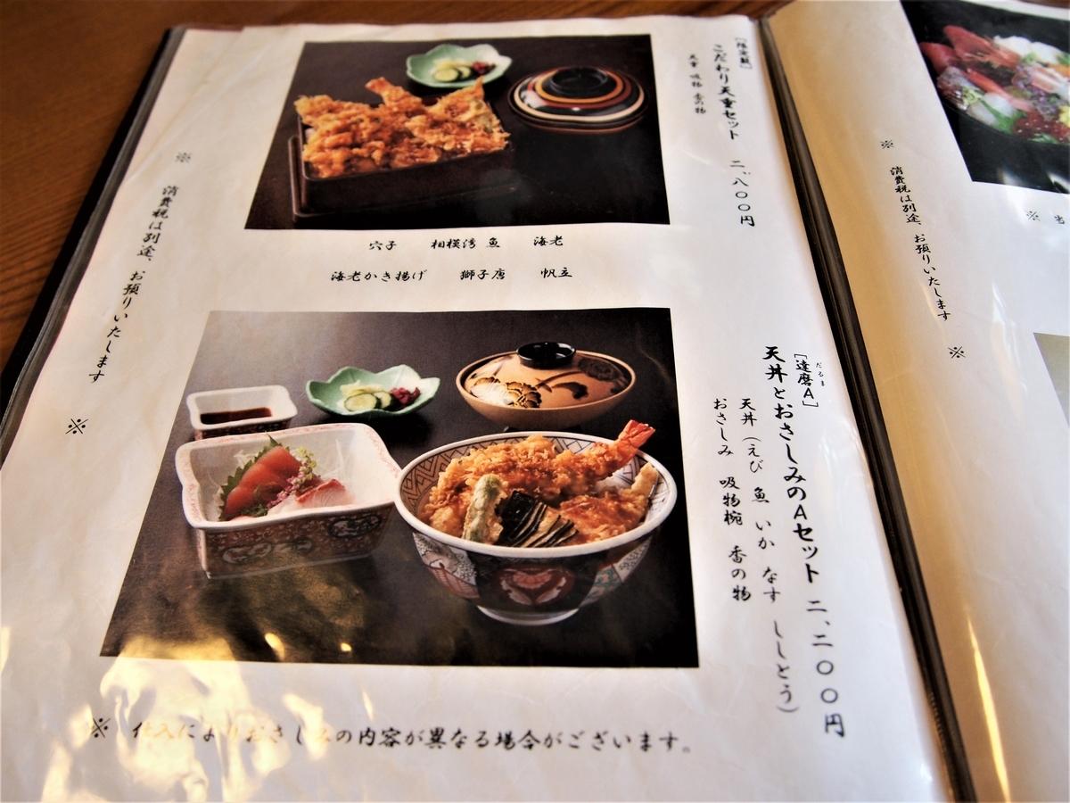 だるま料理店の天丼についてのページ