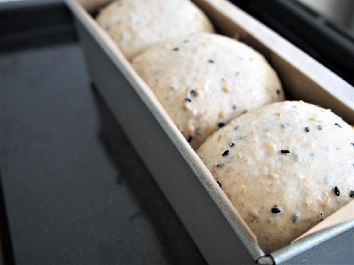 ホイロ後のミニ食パン