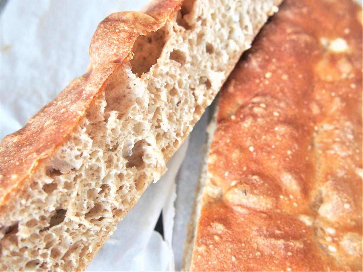 パネトーネマザーで焼くこねないパン断面画像