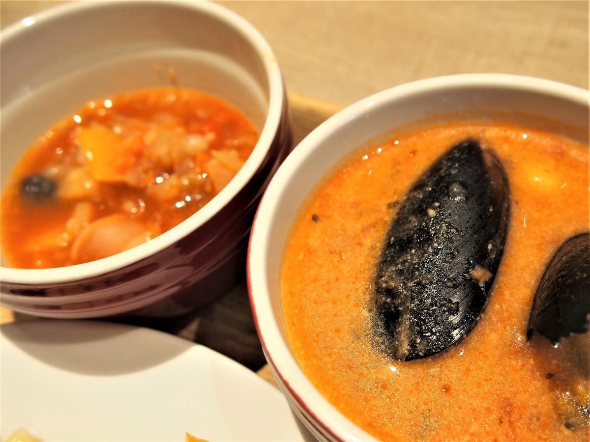 ブッフェのスープ類