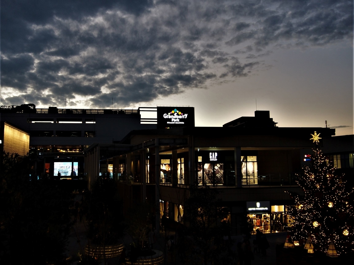 夕暮れのグランベリーパーク