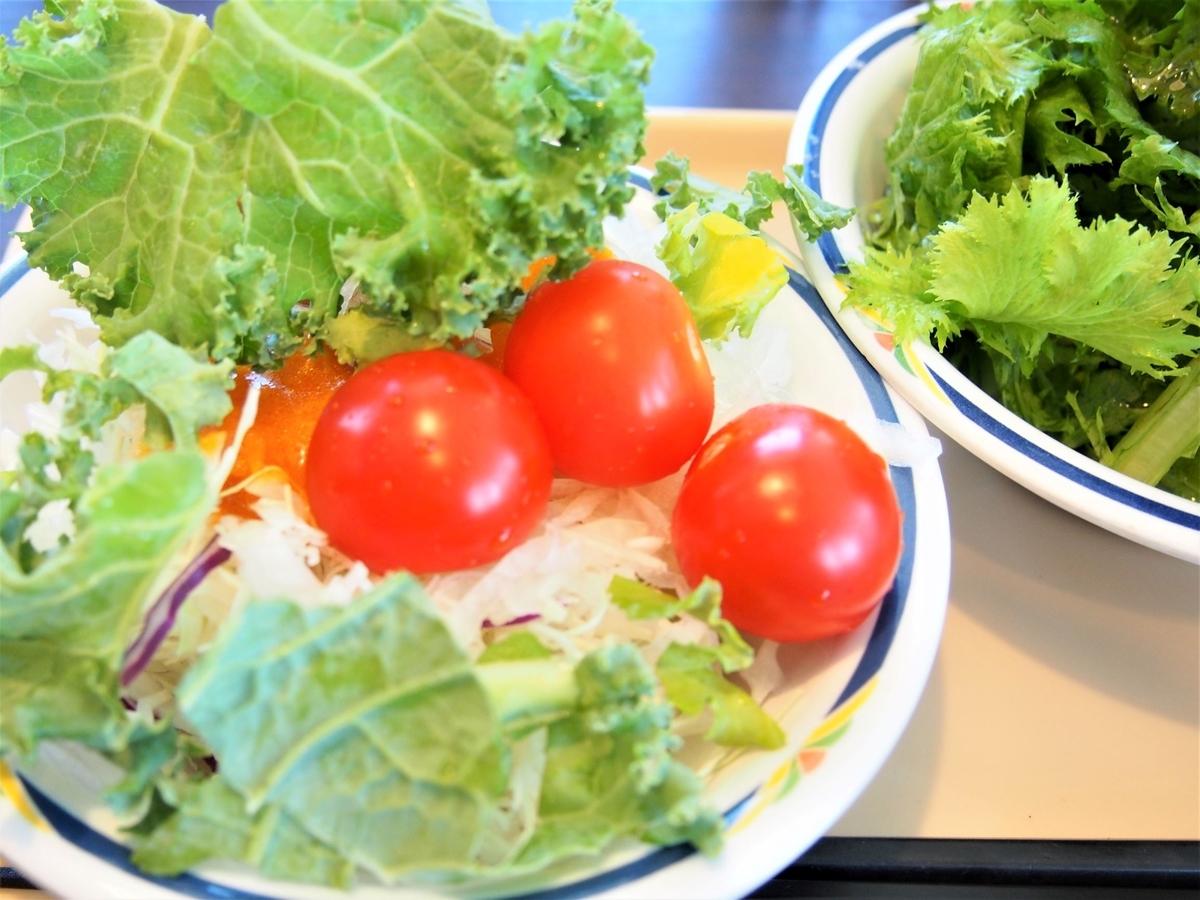 ランチ時・サラダバーの生野菜
