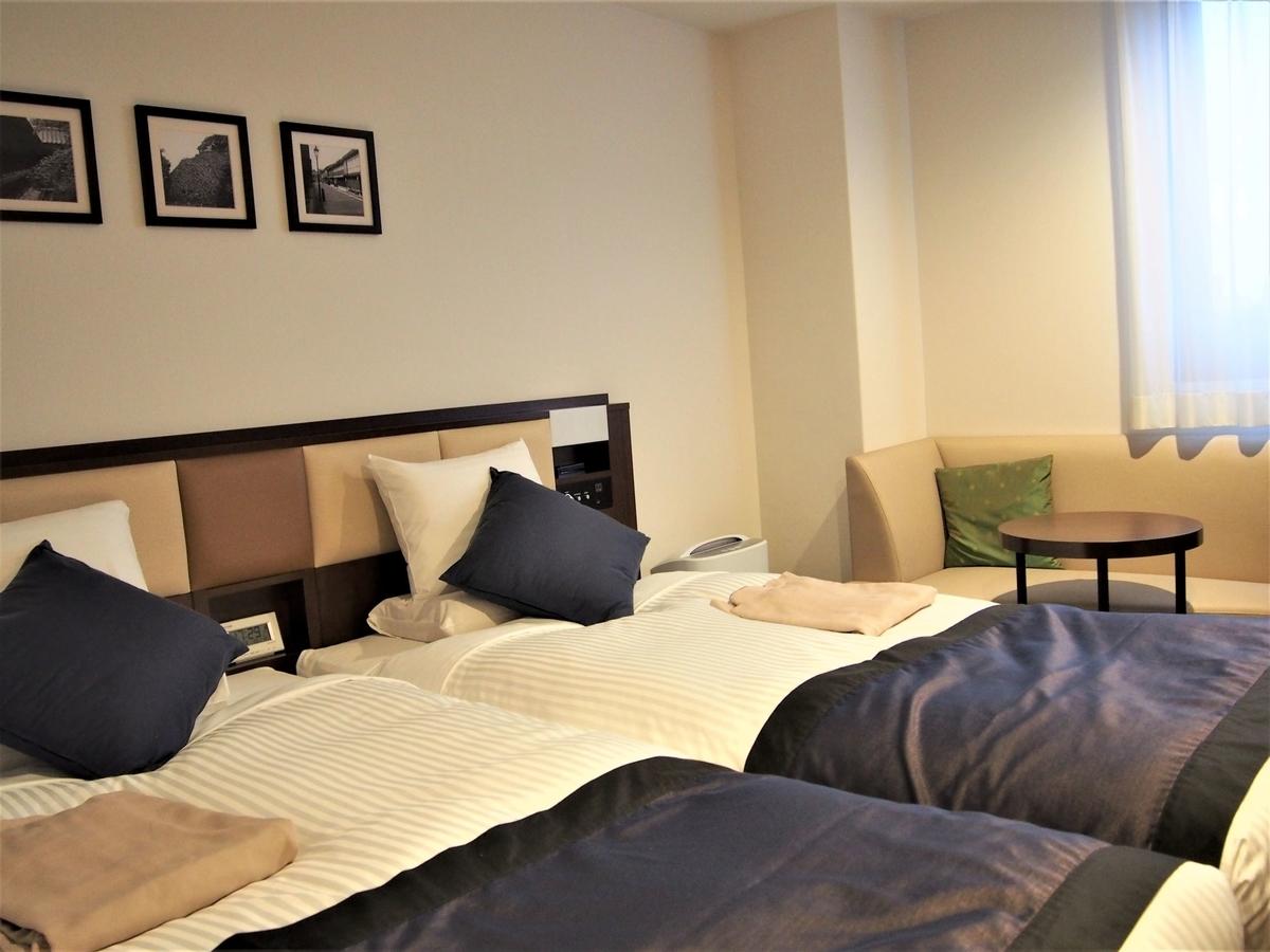 ホテル・マイステイズ金沢キャッスルのツインの部屋