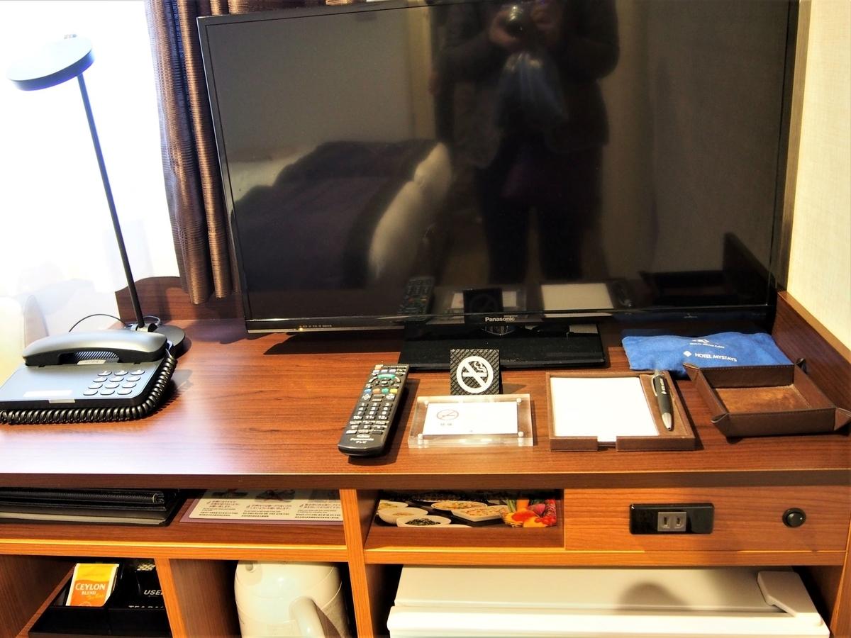 ホテル客室内のテレビ等