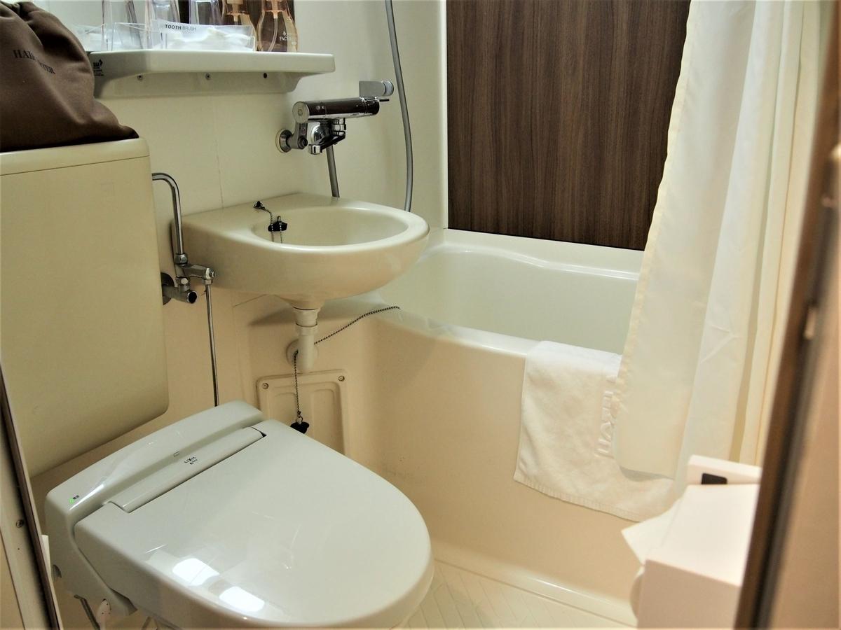 ホテルマイステイズ金沢キャッスル内のバス・トイレ