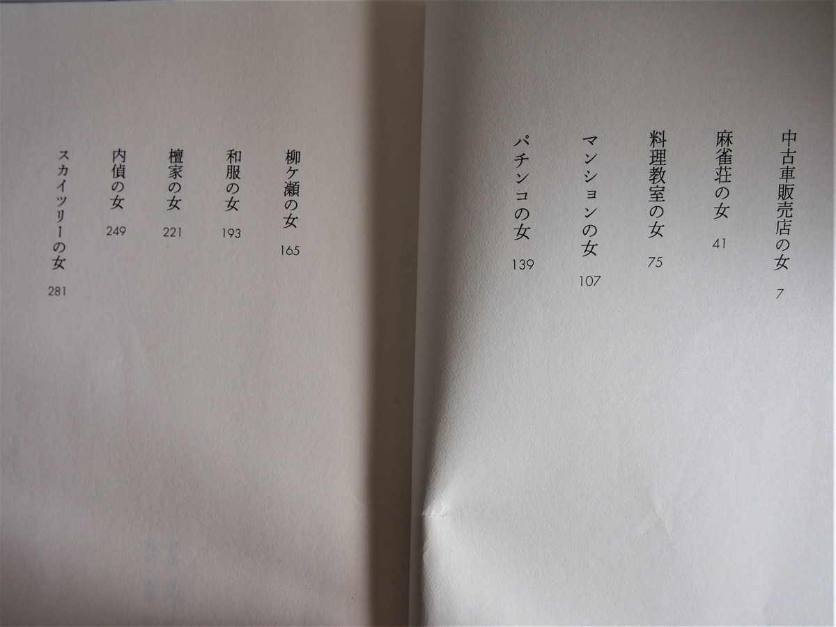 奥田英朗「噂の女」の目次