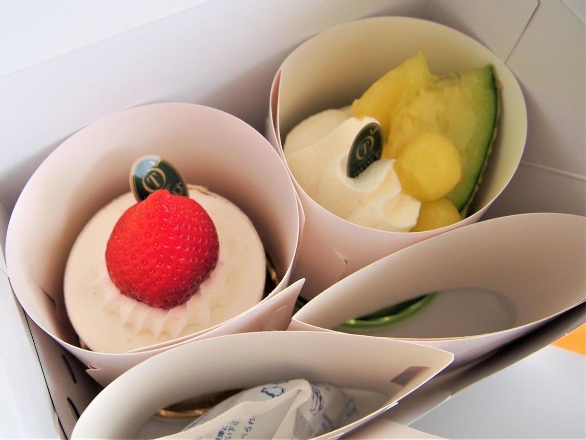新宿高野の持ち帰りショートケーキ