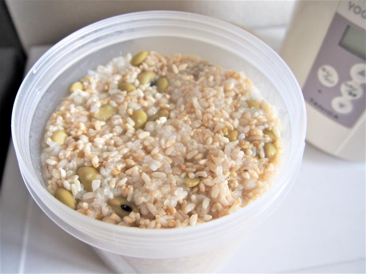 ヨーグルティアで玄米麹甘酒を作る