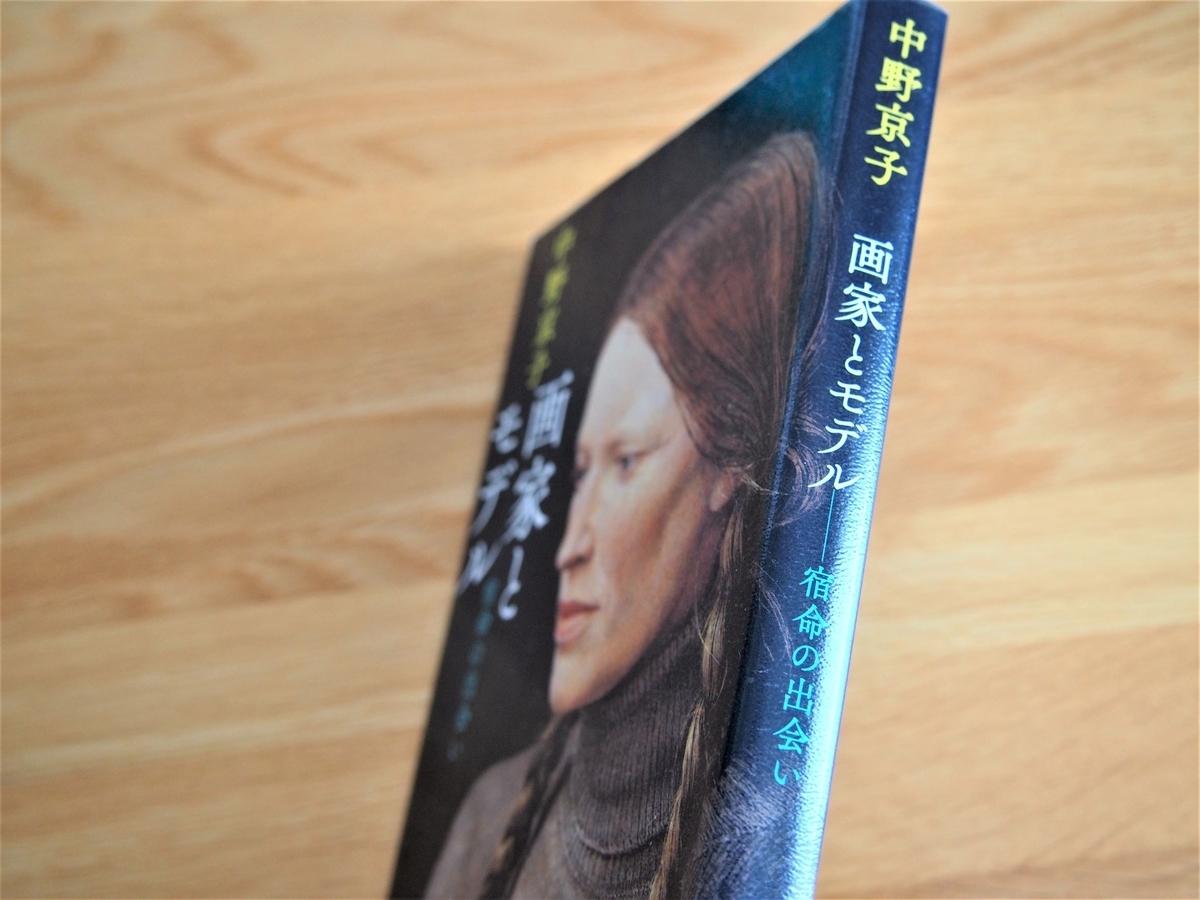 中野京子著「画家とモデル」の背表紙画像