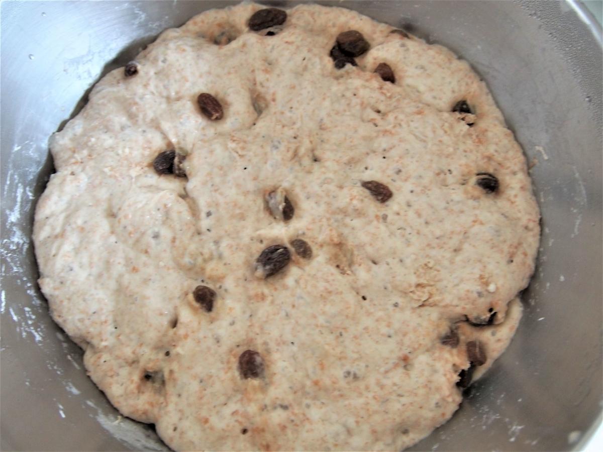 冷蔵発酵後のとかち野酵母のパン生地