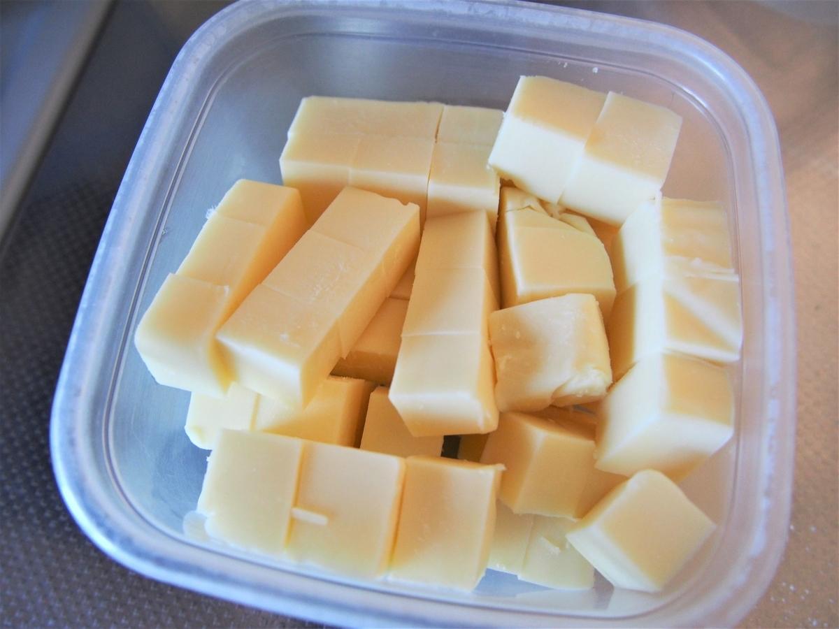角切りにしたチーズ