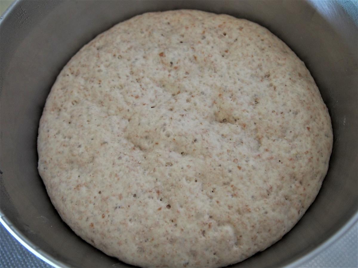 豆乳入りのパン生地の発酵完了
