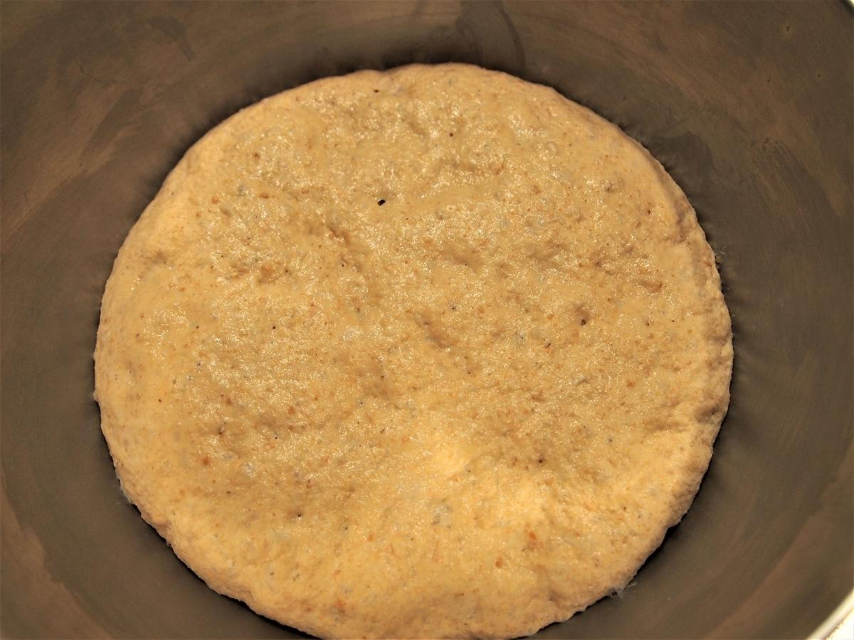 きなこパンの一次発酵後