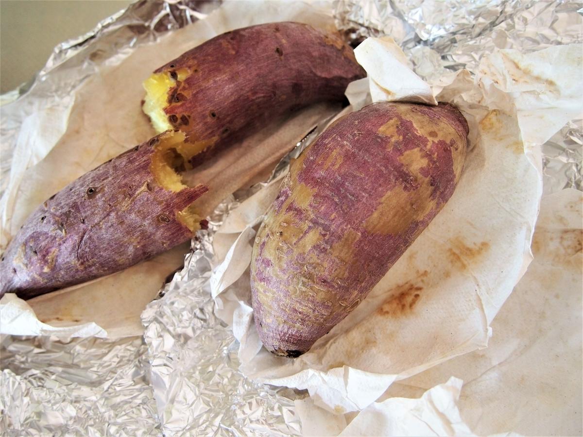 シルクスイートと紅あずまの焼き芋