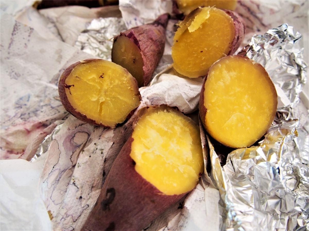 オーブンで焼いた紅はるかの焼き芋