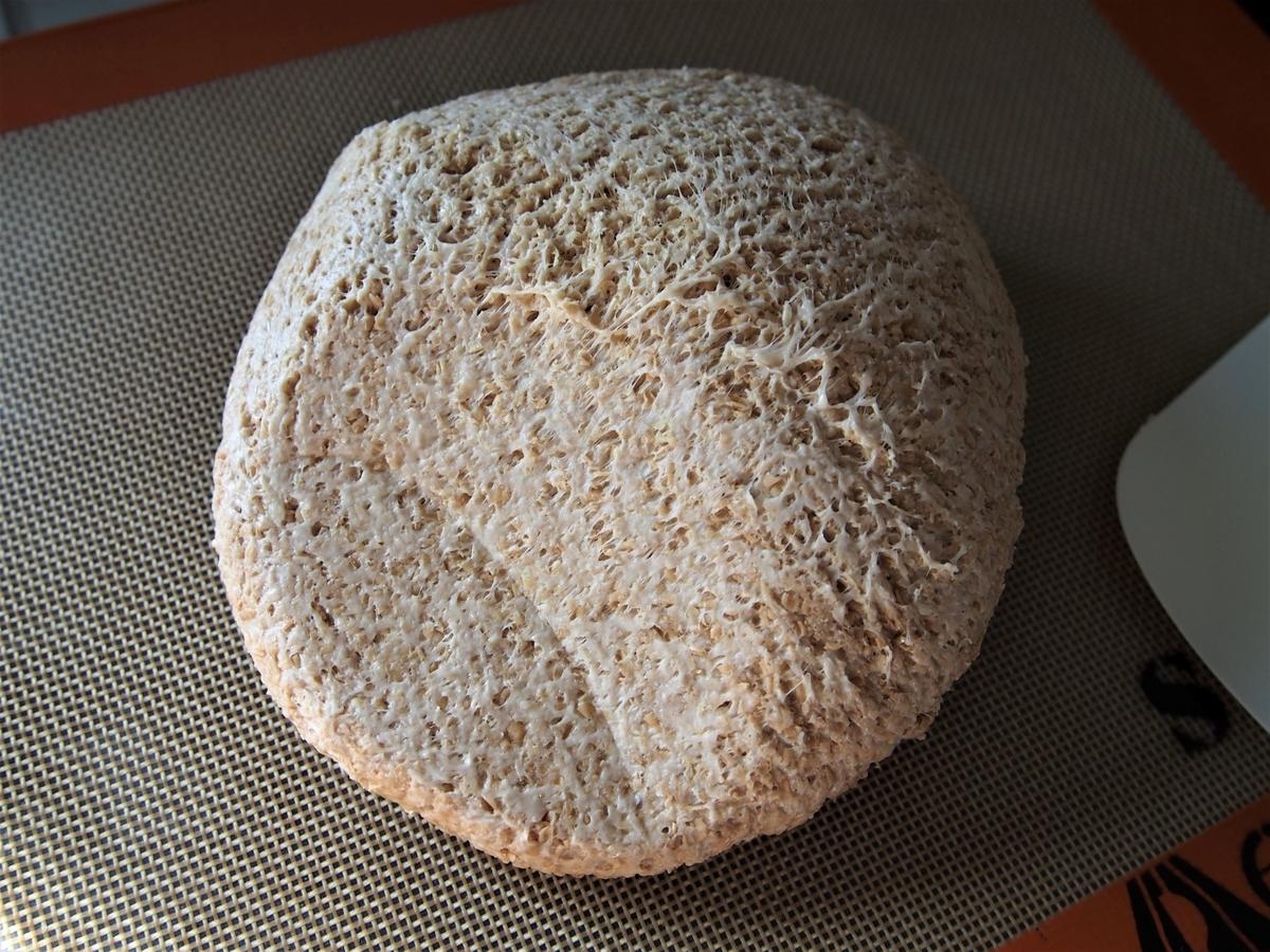 小麦ふすま&スペルト小麦のパン生地・ガス抜き