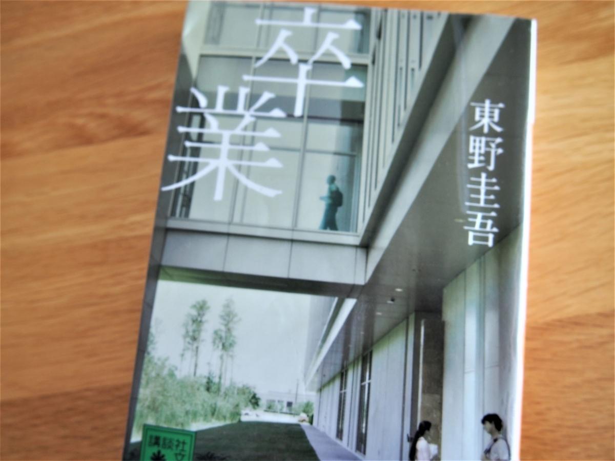 東野圭吾著「卒業」の文庫版表紙