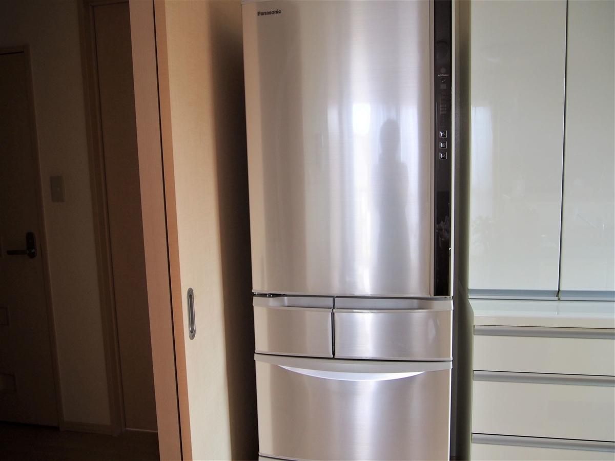 新しく買ったパナソニック製の冷蔵庫・406L