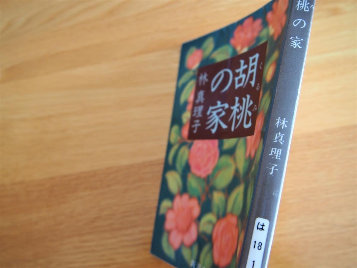 林真理子著「胡桃の家」の文庫版背表紙