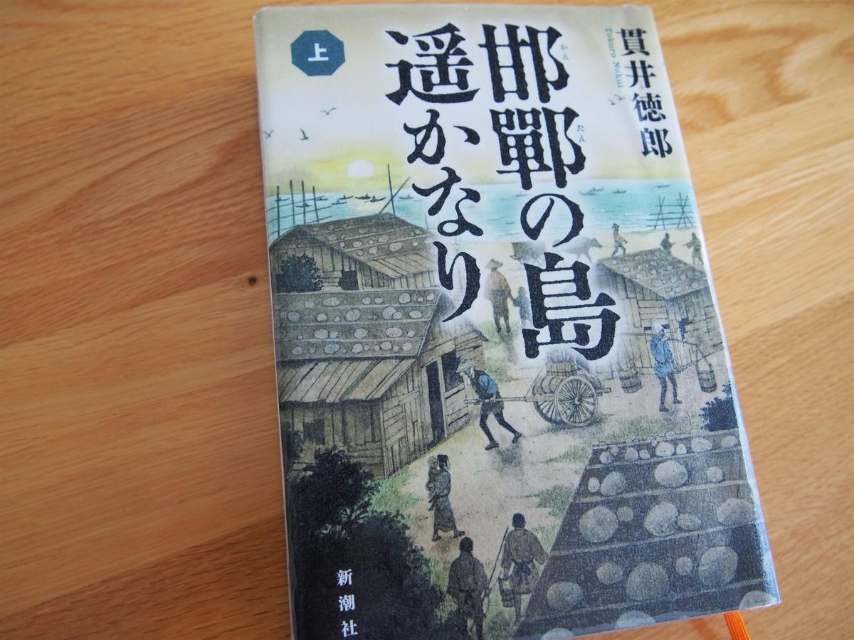 貫井徳郎著「邯鄲の島遥かなり」上巻・表紙