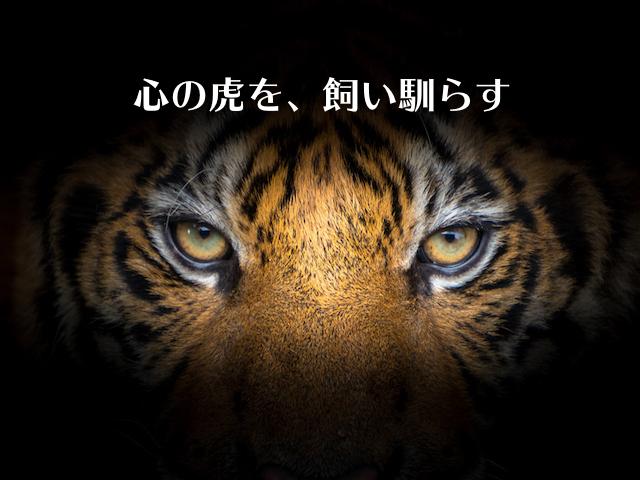 心の虎を、飼い馴らす