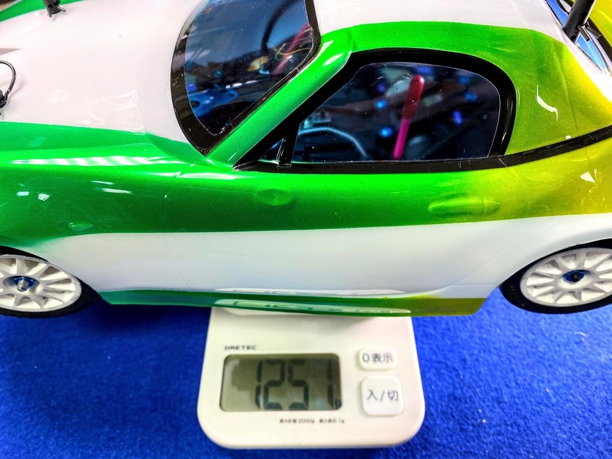 タミヤ Mシャーシ 軽量ボディ 車両重量