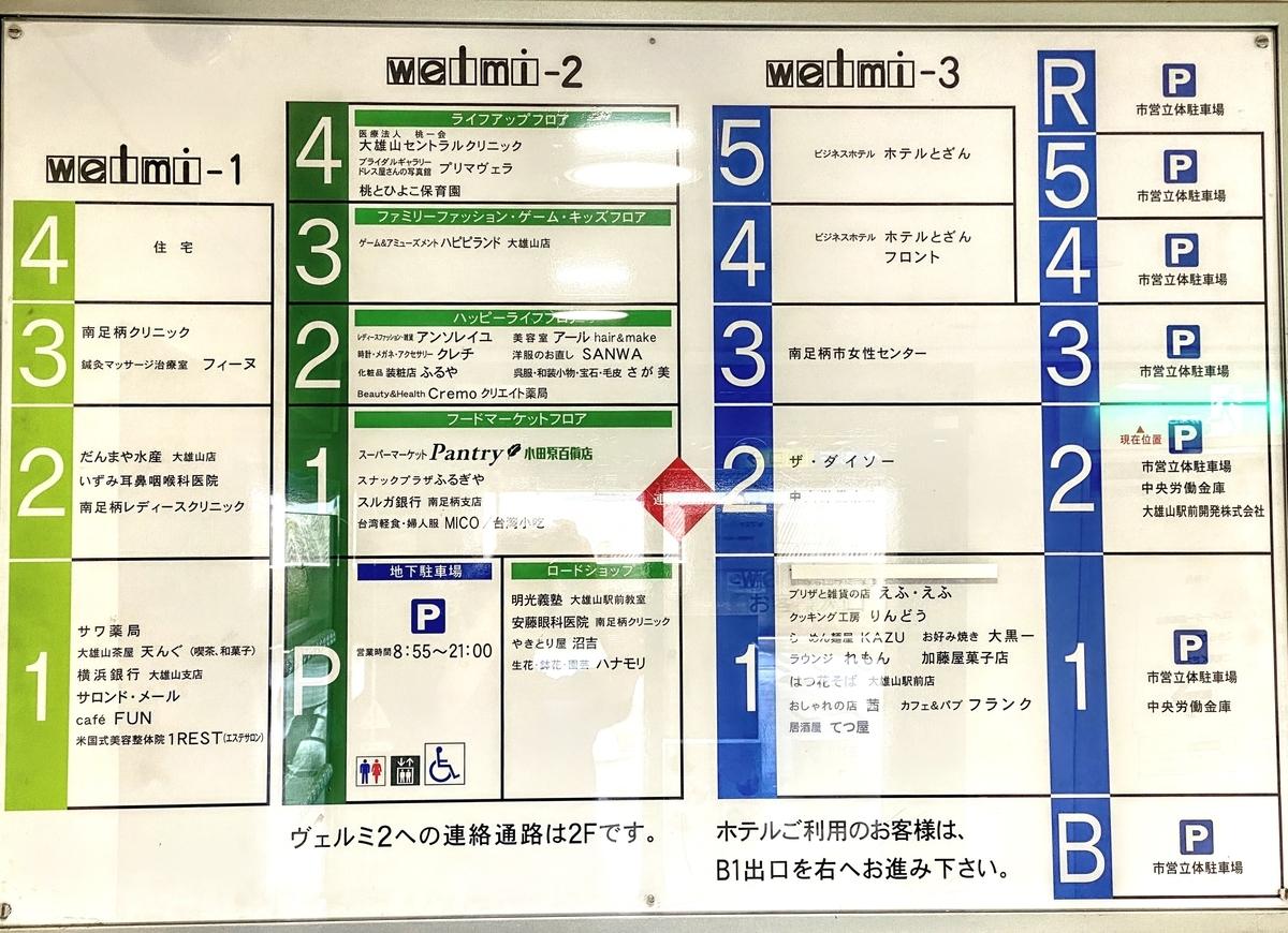 大雄山ヴェルミ駐車場の階層図