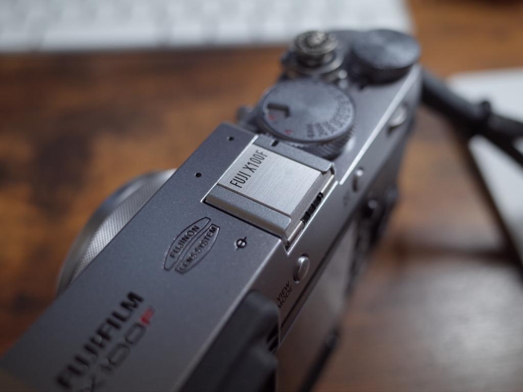 F-Foto名入れメタルシューカバーをX100F用に作ってみた