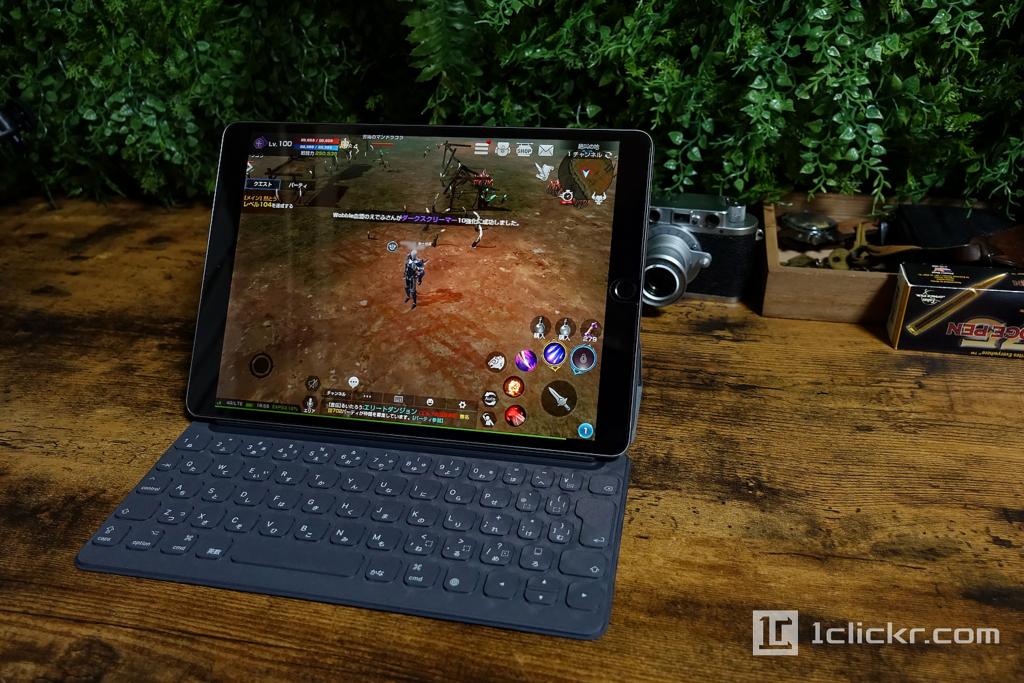 リネレボ(リネージュ2レボリューション)プレイ環境でベストに快適なのはiPad Pro 10.5 + Smartkeyboard