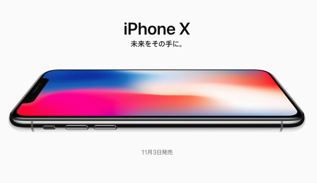 iPhone X シルバー256GBとレザーフォリオケースを予約しました。