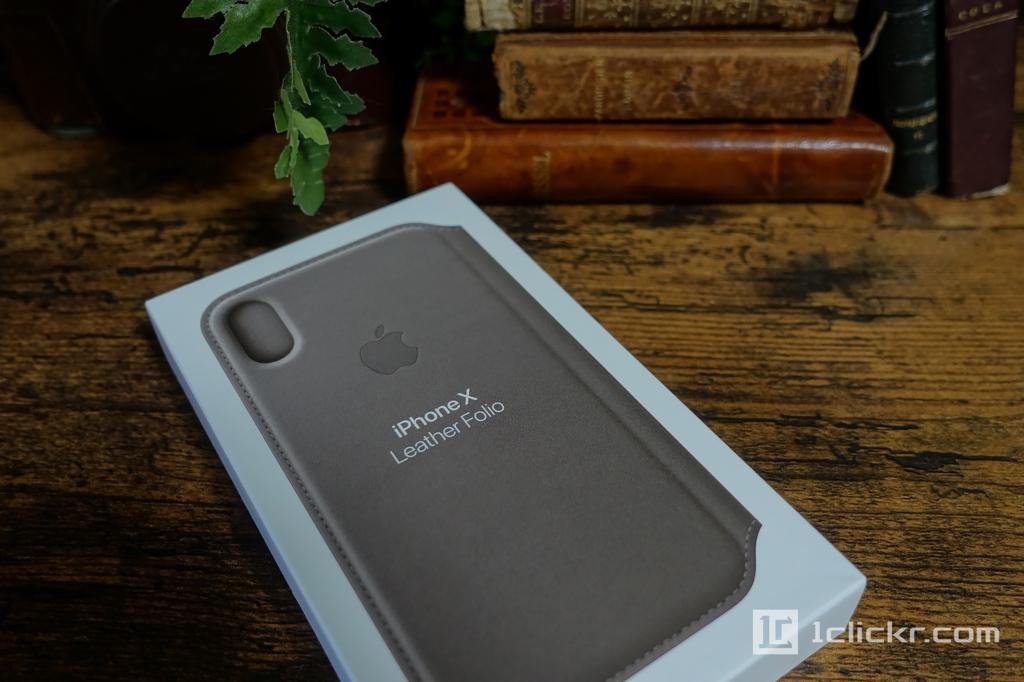 【レビュー】iPhone X レザーフォリオ Apple初の手帳型レザーケース