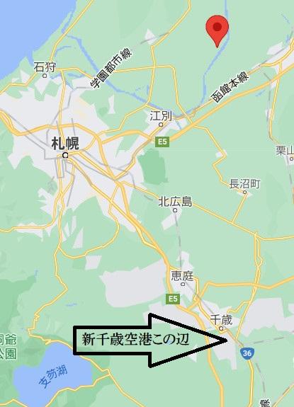 新篠津道の駅の位置