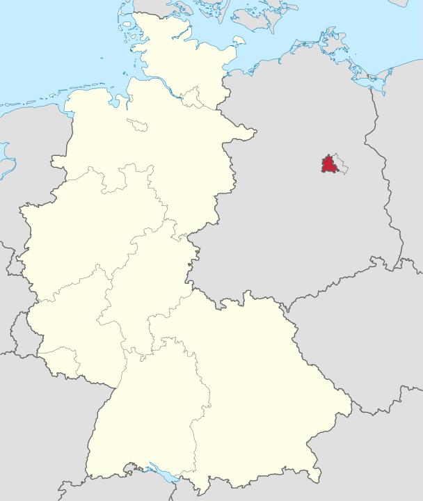 東西ドイツ国境――TUBS - File:Germany, Federal Republic of location map January 1957 - October 1990.svg, CC 表示-継承 3.0, https://commons.wikimedia.org/w/index.php?curid=19639006による