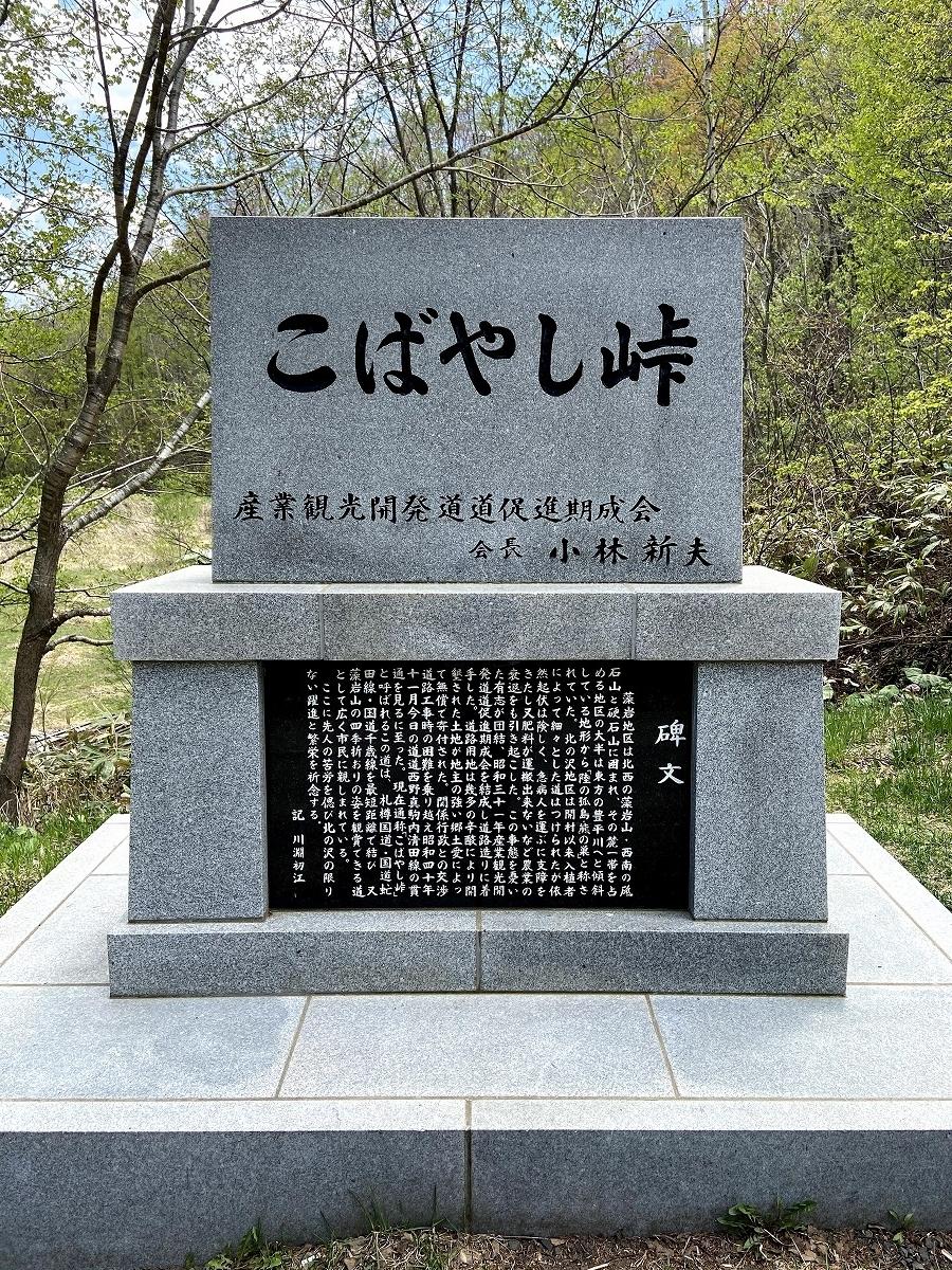 頂上の碑石