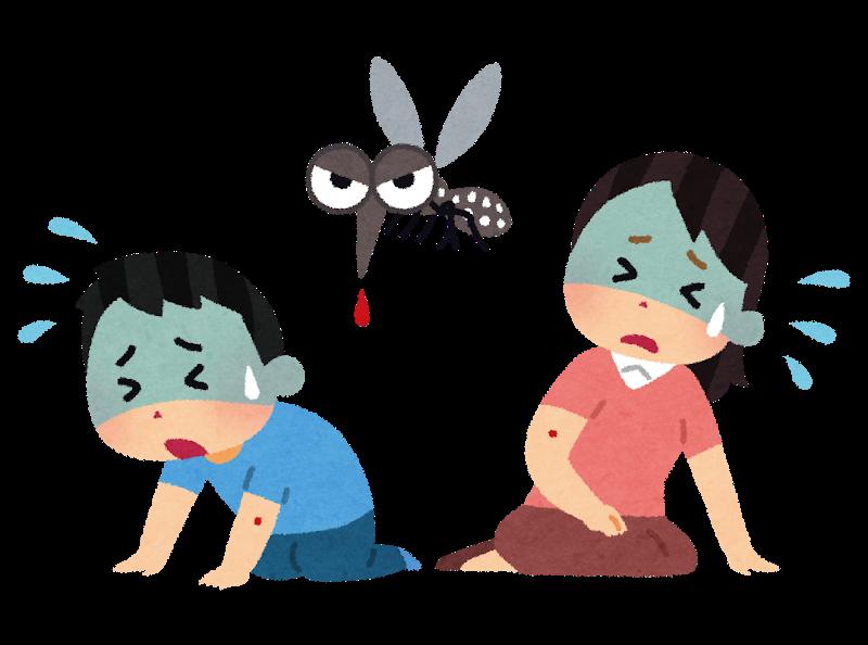 伝染病は蚊が媒介