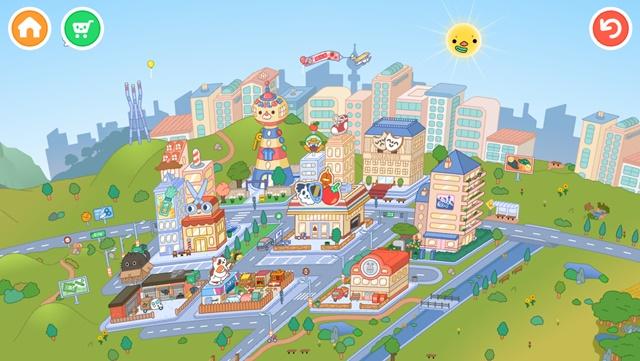 トッカライフワールドのマップ画面