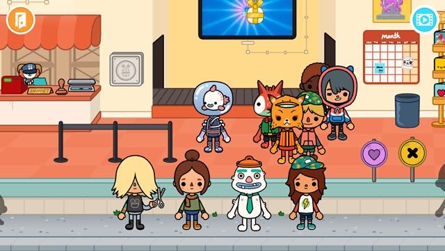 トッカライフワールドのキャラクターたちの画面