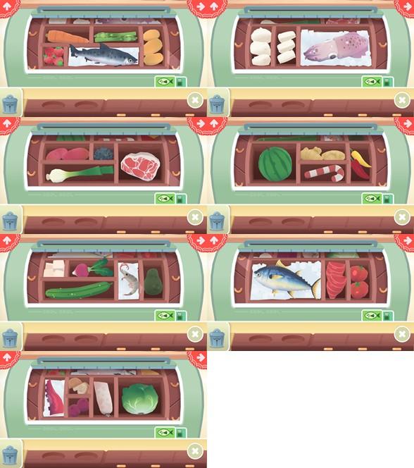 トッカキッチンすしの食材一覧
