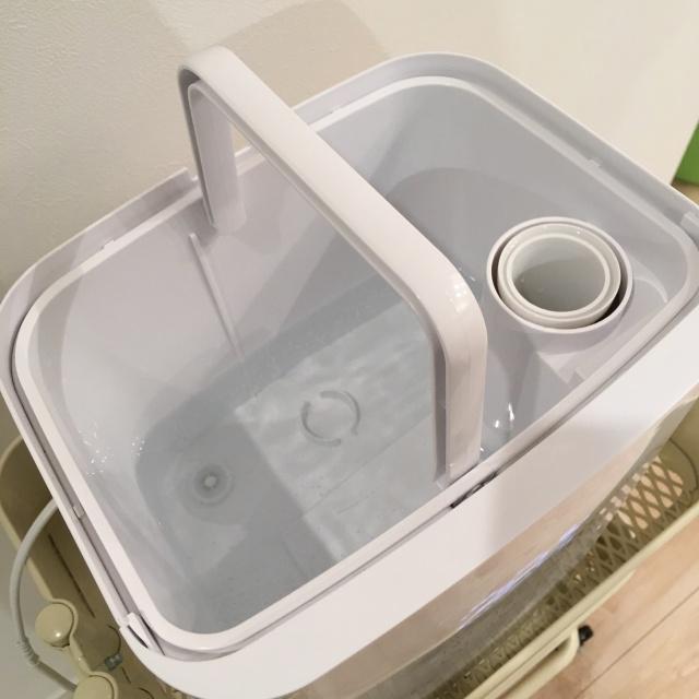 ハイブリット加湿器Tetraの上部給水
